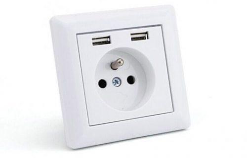 USB stopcontact met penaarde