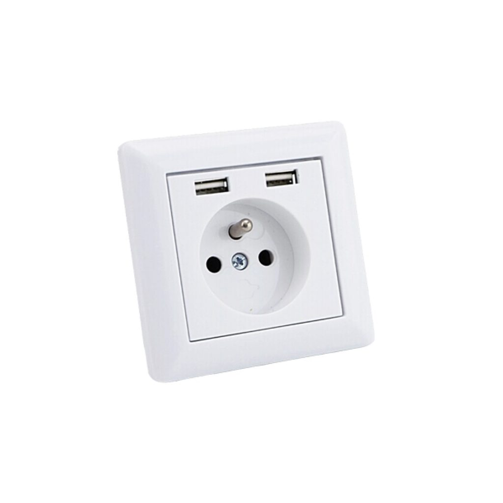 USB STOPCONTACT MET PENAARDE ENKEL 1 PACK