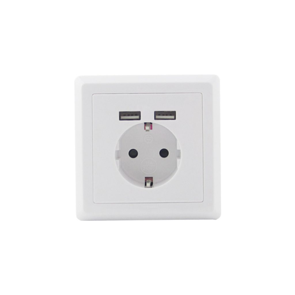 USB Stopcontact basic enkel 1 pack
